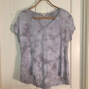 Forever 21 Gray tie-dye woman's t-shirt Small